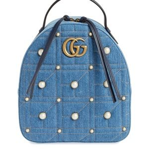 Gucci Marmont Denim Backpack